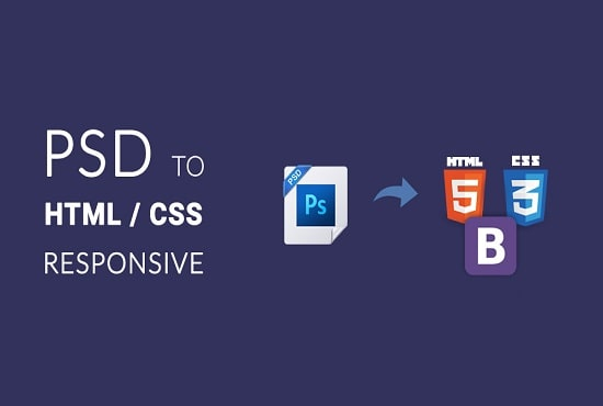 convert your PSD to responsive HTML5 css3 website