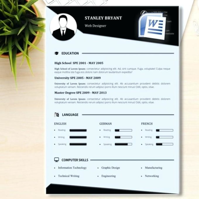 Create The Perfect Resume And Cover Letter By Editor Graphics