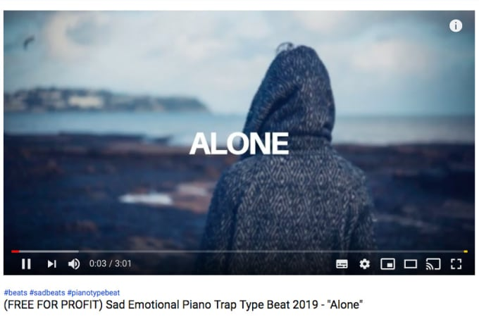 trackout alone sad piano type beat by daily music world