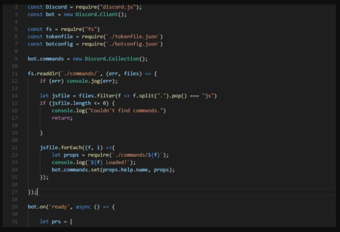 custom discord bot coding