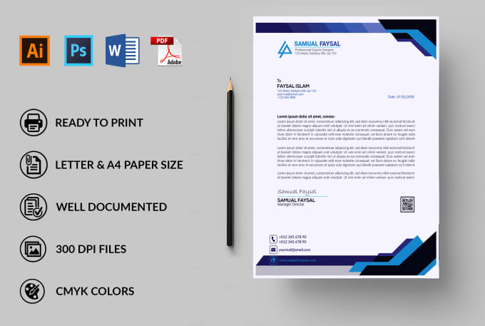 letterhead template  design professional editable letterhead template
