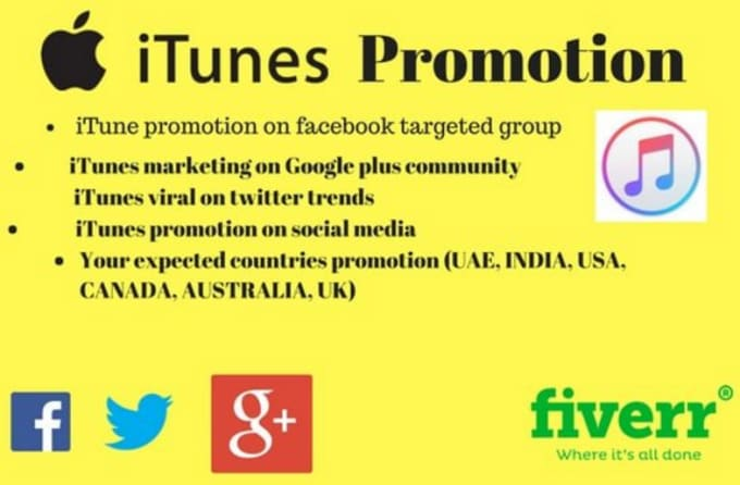 do effective promotion for your itunes apple music on social media platforms