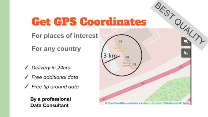 extract gps coordinates from open street map