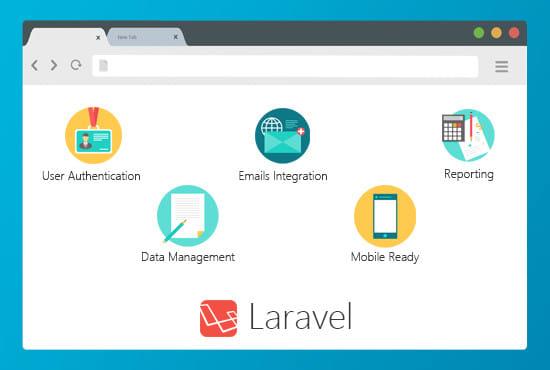 make custom web applications in php laravel