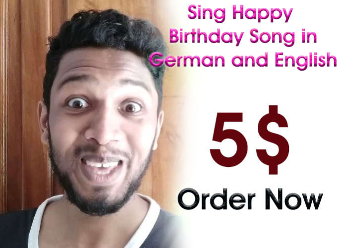 sing happy birthday song in funny way