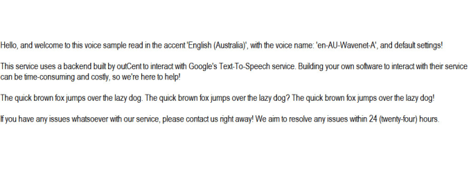 convert text to realistic speech, english australia