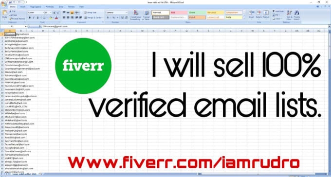 sell verified consumer email list