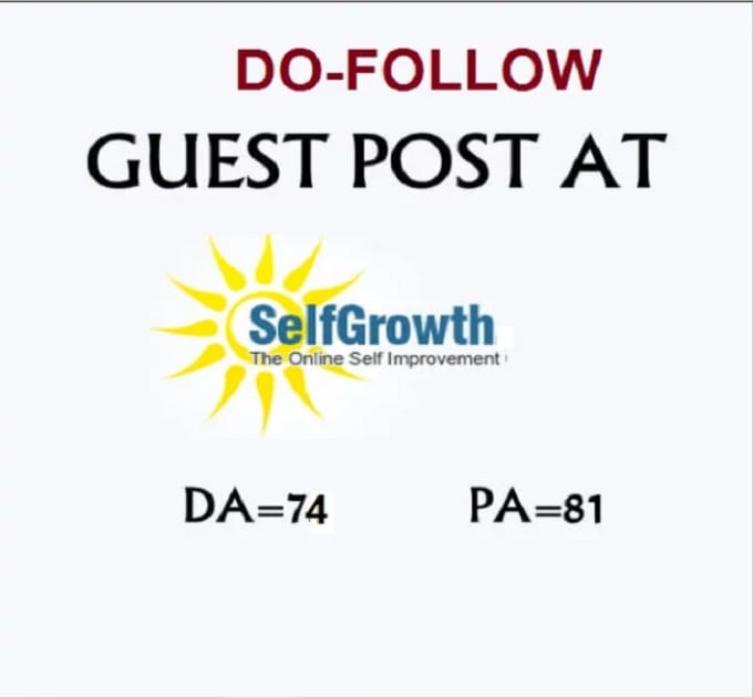 publish a guest post on self growth selfgrowth da77, pa81