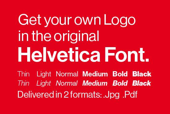 design a modern logo using the original helvetica font