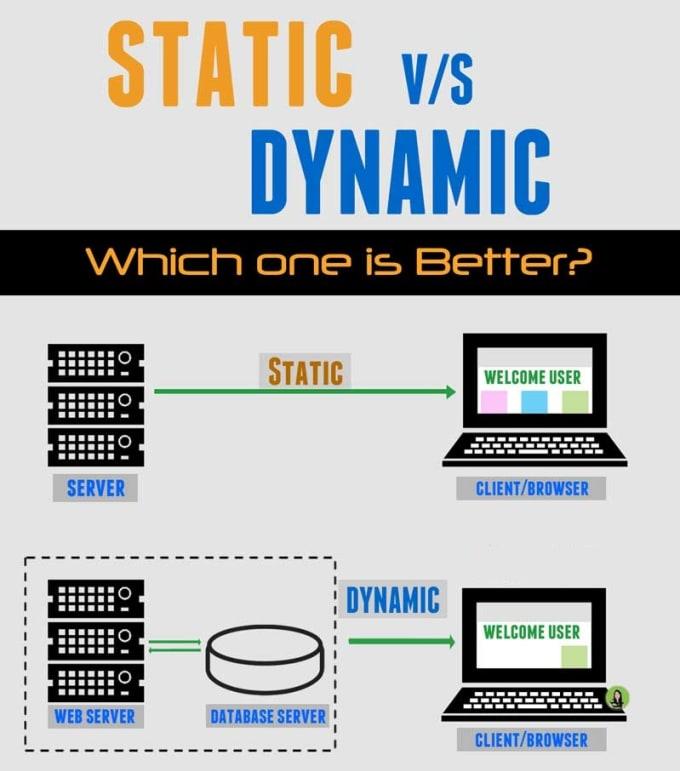 convert static website to dynamic wordpress or laravel application