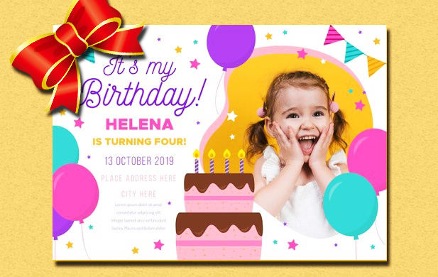 Design Birthday Party Invitation Card In 6 Hours