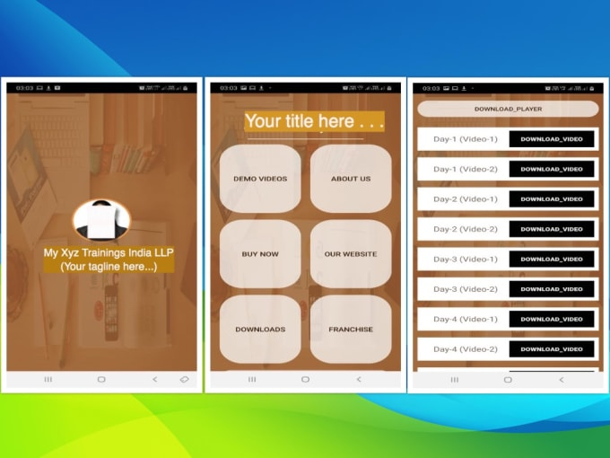 develop android app for online course selling with admin portal