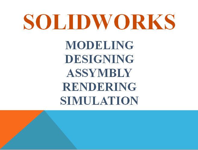 make 2d drawings 3d modeling plus rendering using solidworks and cad  software