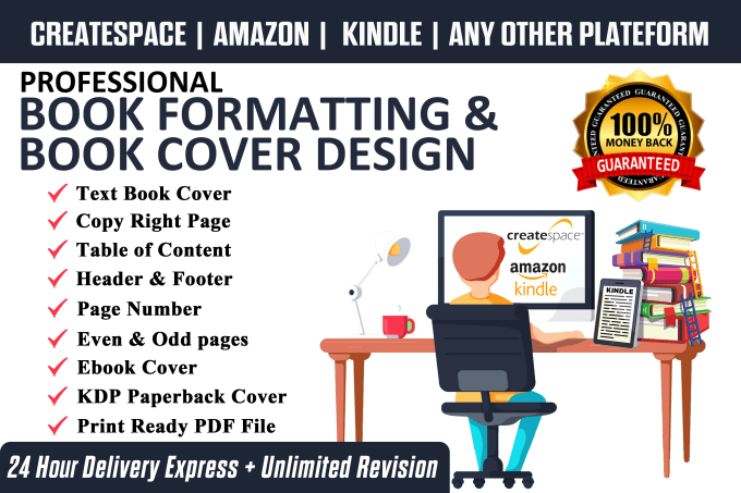 do kindle formatting, ebook formatting and KDP paperback