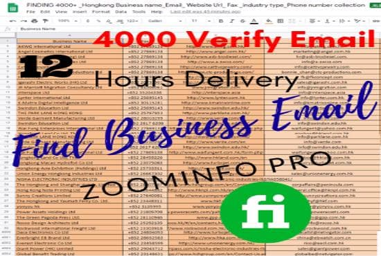 by zoominfo pro find business emails address email hunter find lead  generation