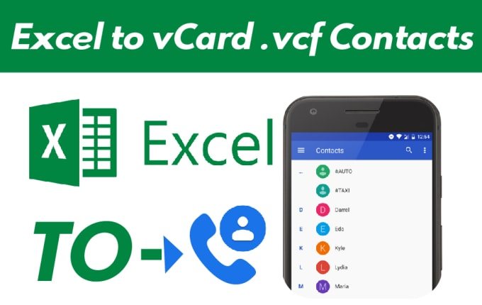 ali_expert : I will create an excel to convert vcard, vcf for business  contacts for $20 on www fiverr com