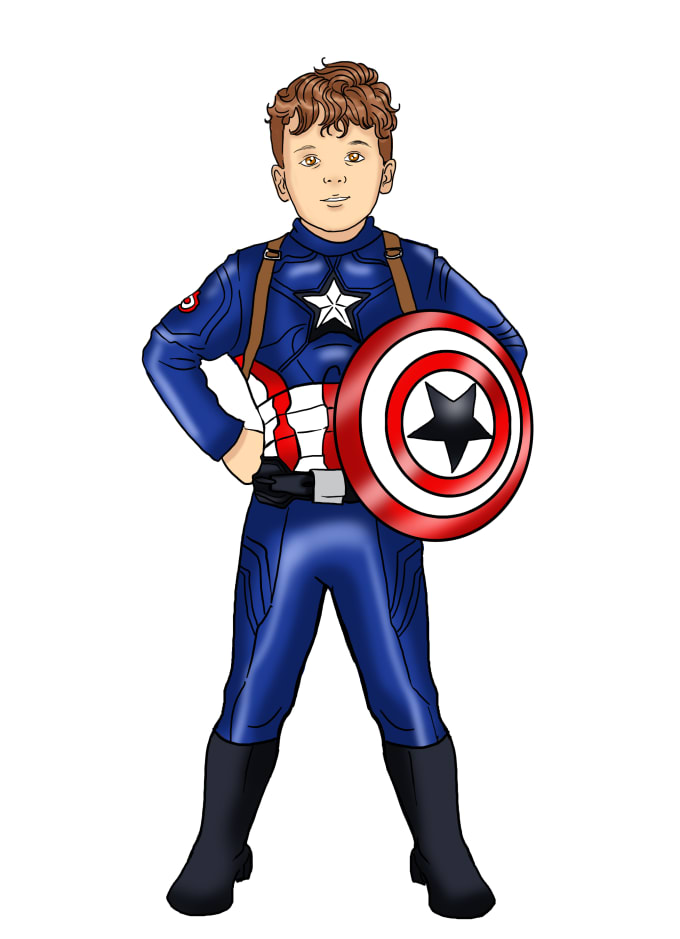Draw your kids as superhero cartoon characters from photos ...