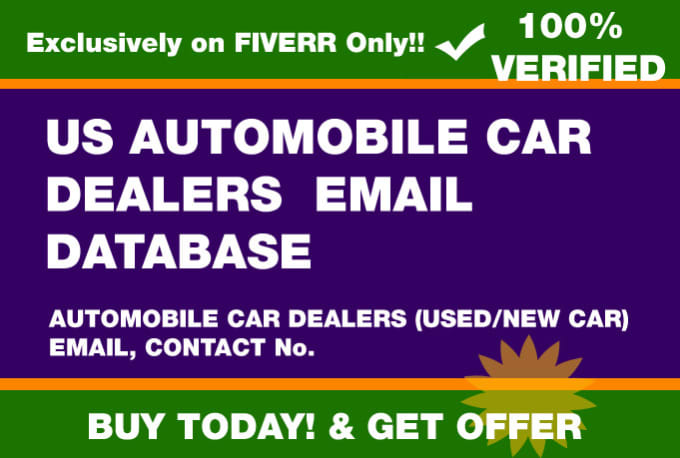 provide USA automobile car dealers email database
