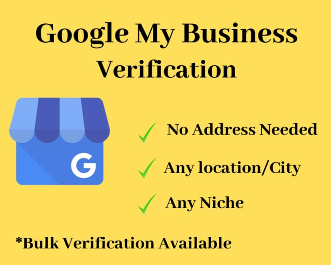 verify your google my business listing without address