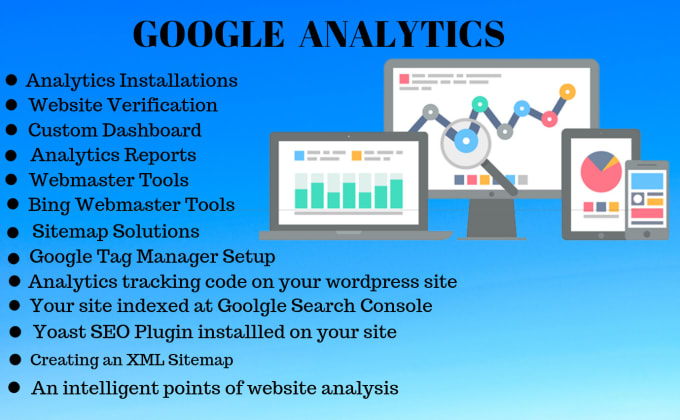 install google analytics and verify website in search console
