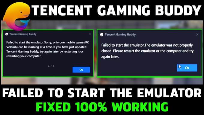 abhishekgupt771 : I will fix pubg mobile error failed to start the emulator  for $5 on www fiverr com