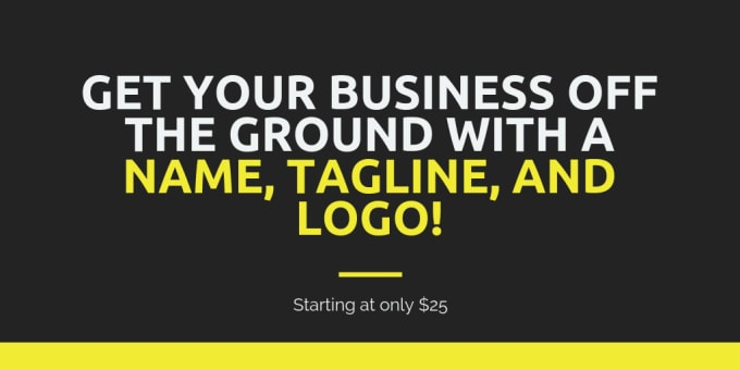 create your business name, tagline, and logo