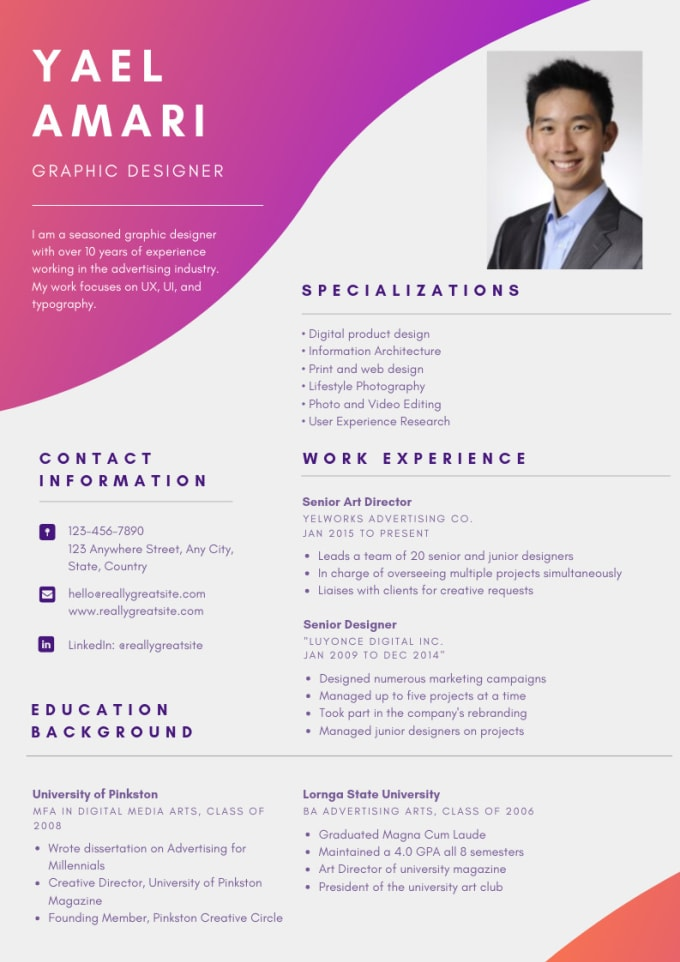 design and edit your resume cover letter cv and linkedin