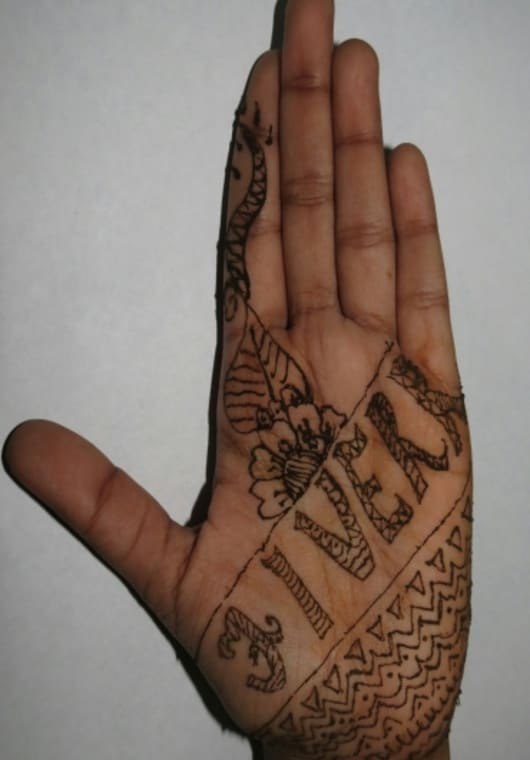 Create A Mehendi Tattoo Featuring Your Logo Or Yourname Or Any Other