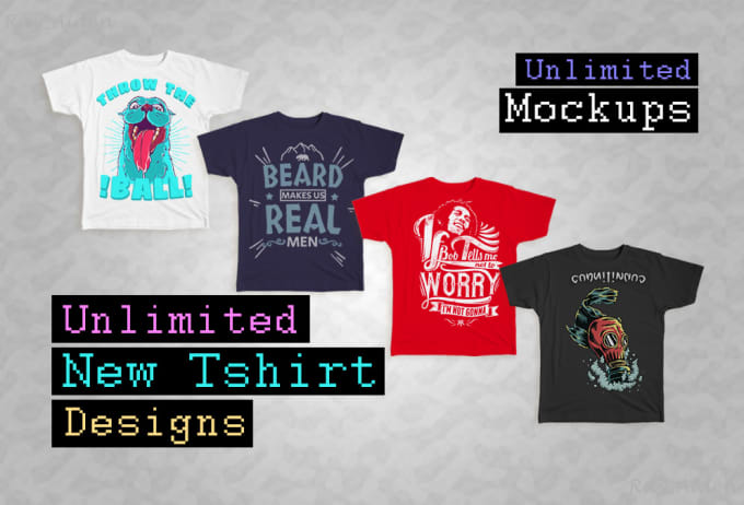 deliver unlimited new tshirt designs and mockups, print on demand, printful