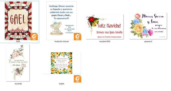 trabajofortraba : I will design personal invitations in spanish or english  for $5 on www fiverr com