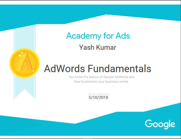 do academy for ads certified