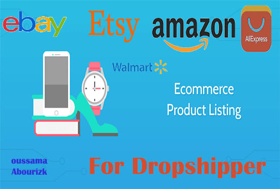 list your products on ebay amazon walmart aliexpress dropshipping
