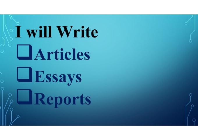 report essay structure