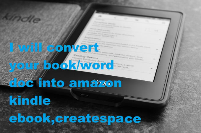 Format Your Book Ms Doc File Pdf Into Ebook Kindle