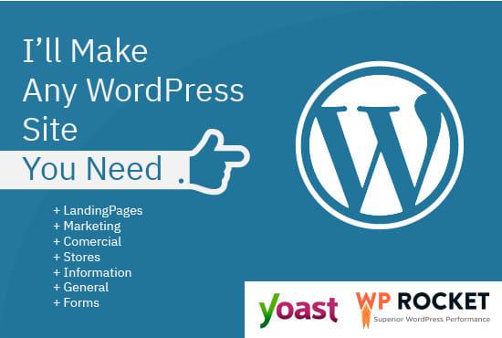 I will make any wordpress site you need