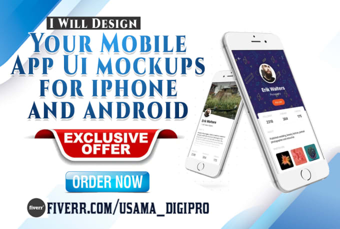 usama_digipro : I will design your mobile app ui mockups for iphone and  android for $5 on www fiverr com