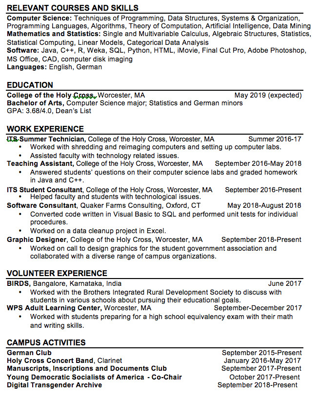 cv and cover letter writer and editor