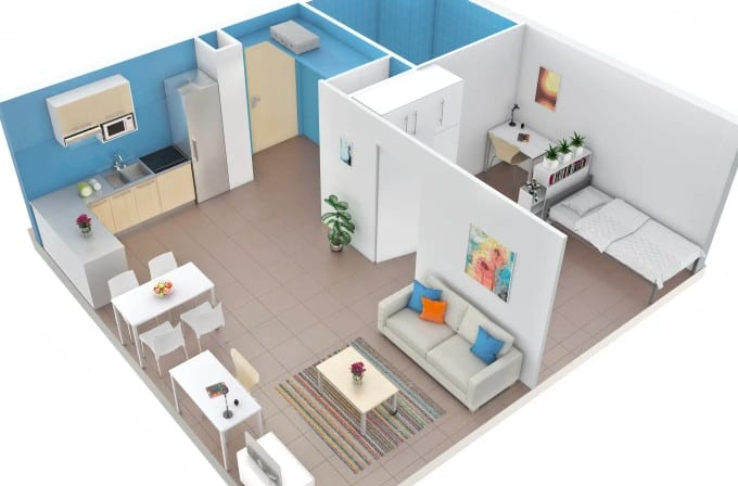 architecture drawing and floor plan