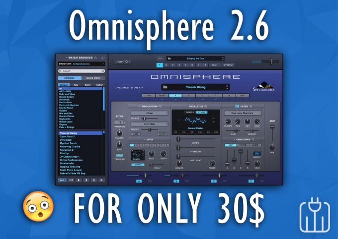 Provide you with omnisphere 2,6 by Pluginfamily