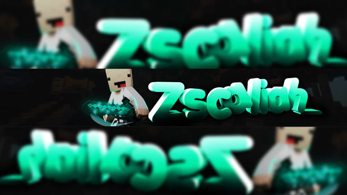 do minecraft or fortnite banner or 2d or 3d text