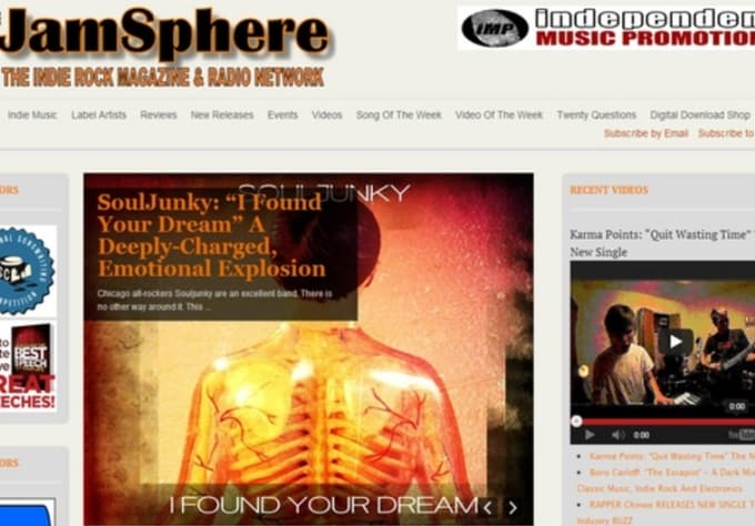 publish your music profile, pics, links to jamsphere plus tweet and post to  fb