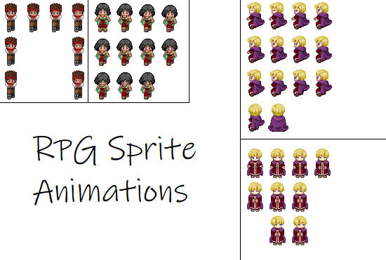 animate your rpg maker xp sprite doing an action of choice