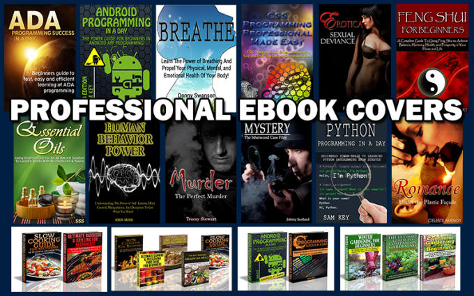 design a professional eBook cover with 3D design in 24 hours
