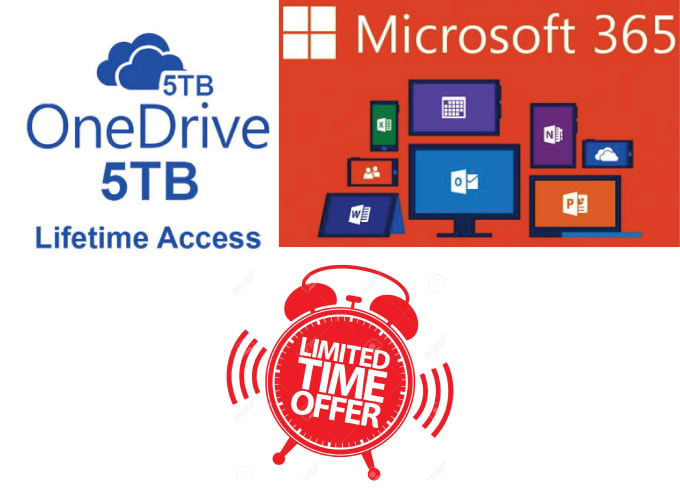 thayking : I will give onedrive 5tb and microsoft 365 for lifetime license  for $15 on www fiverr com