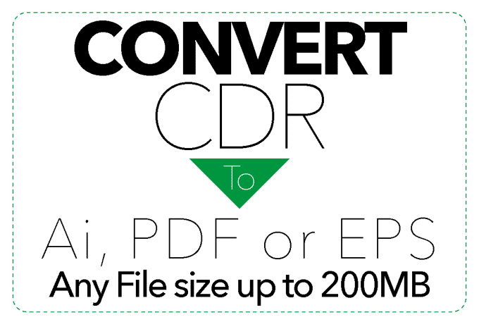 convert large size cdr file to ai pdf eps