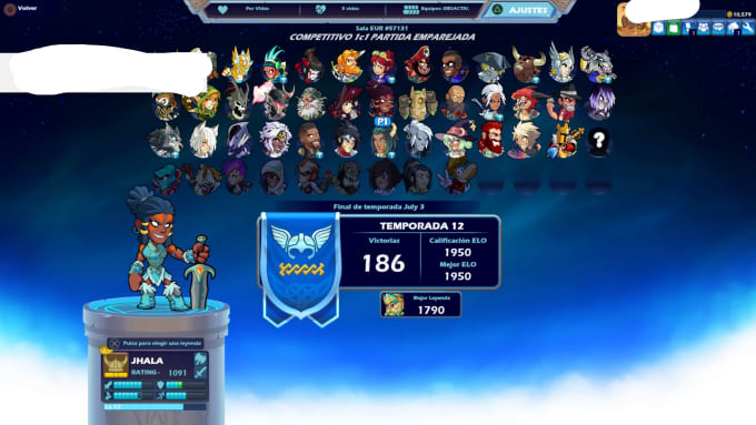 get your account to platinum on brawlhalla ps4