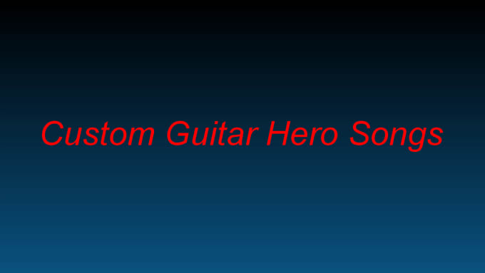 make a song chart for guitar hero or clone hero