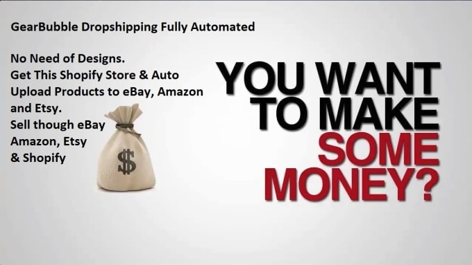build shopify store with 5000 products gearbubble dropshipping to ebay  amazon