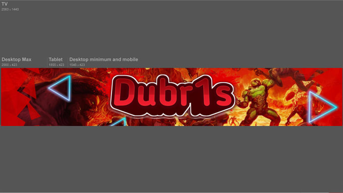 make you a 3d youtube banner