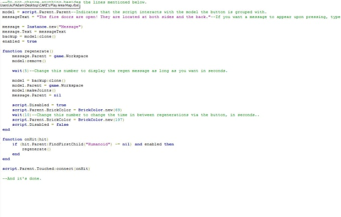 help you with roblox coding